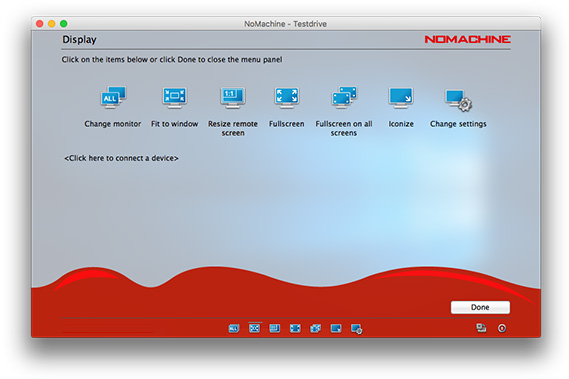 NoMachine - Guide to the Functionality in the Menu Panel on Mac