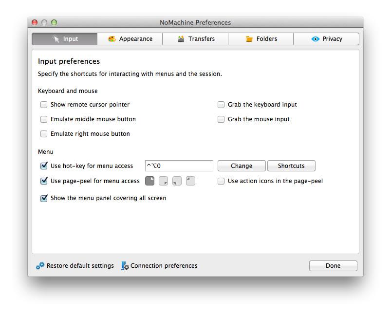 NoMachine - Quick Guide to the NoMachine GUI (v 5)