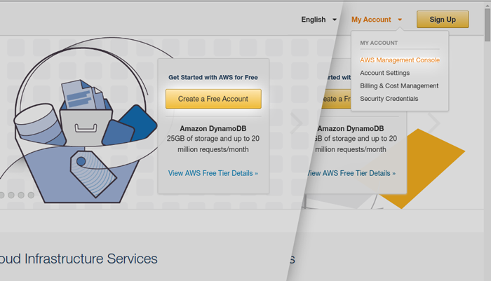 Create a free account on www.aws.amazon.com