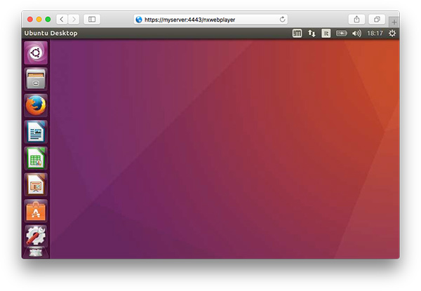 Remotely access an Ubuntu desktop via the browser