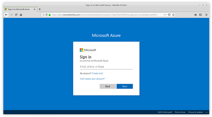 Create a free account on https://portal.azure.com