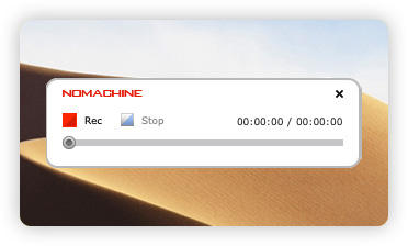 Click the red button to start recording the content in the NoMachine session window