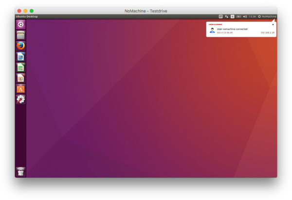 A virtual Ubuntu desktop
