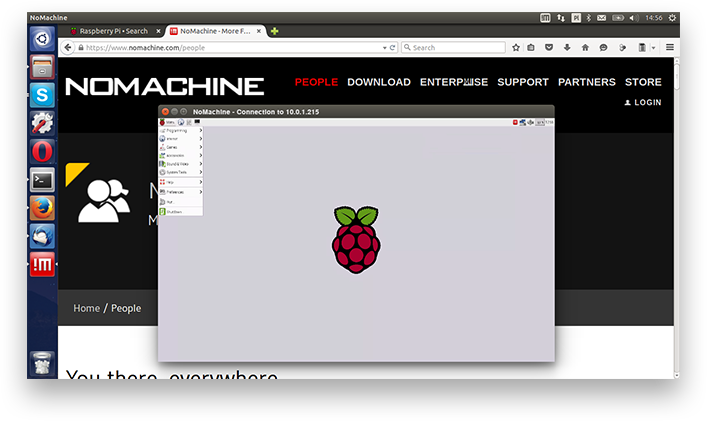 Use your Raspberry Pi as a server and remotely connect to its Raspbian desktop using NoMachine